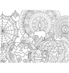 halloween pumpkin coloring vector image