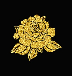 Hand Drawn Wedding Rose vector image
