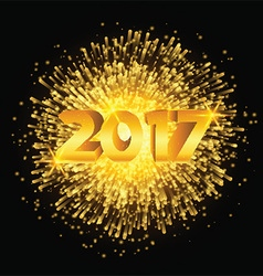 Happy New Year fireworks background vector image