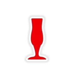 Icon sticker realistic design on paper drinks vector