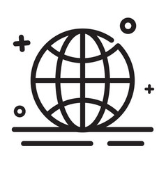 icon worldwide globe browser icons modern outline vector image