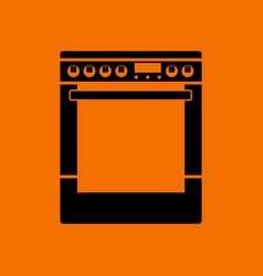Kitchen main stove unit icon vector