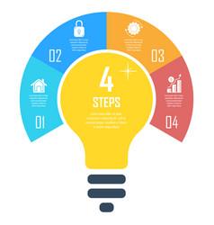 Light bulb infographic business idea concept vector