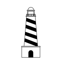 Lighthouse nautical icon image vector