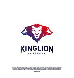 lions logo design concept king lions logo design vector image