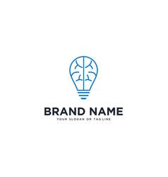 Logo design lights and brain vector