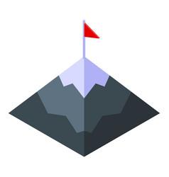 Mountain target effort icon isometric style vector