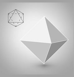 Octahedron - geometric figure hipster fashion vector