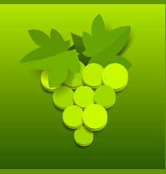 paper grapes carved creative design for food vector image