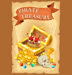 Pirate Treasure Poster vector image