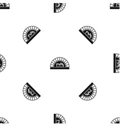 Pizza oven with fire pattern seamless black vector