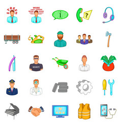 Profitable proposition icons set cartoon style vector