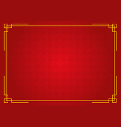 Red circle pattern chinese abstract background vector