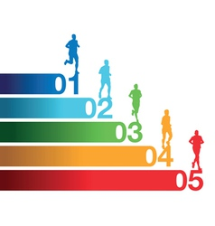 runners numbers vector image