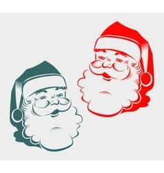 Silhouette of the head Santa Claus vector