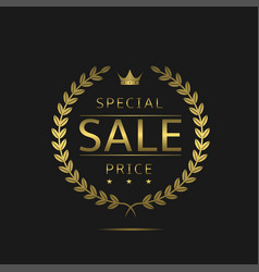 Special price label vector
