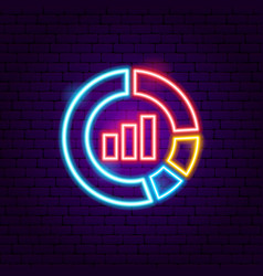 statistics neon sign vector image