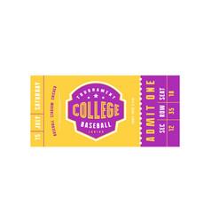 template baseball ticket vector image