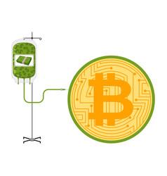 Transfusion dollars in bitcoin btc price vector