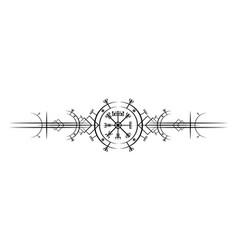 vegvisir compass magic ancient viking art deco vector image