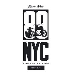 Vintage bikers club t-shirt logo vector