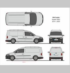 vw caddy kasten maxi cargo van 2015-present vector image