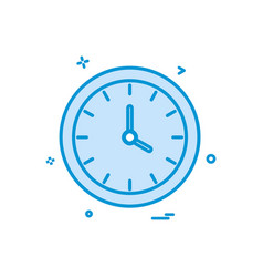 watch clock time icon design vector image