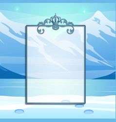 winter sketch with space for your text on the vector image