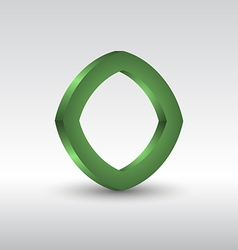 Abstract square 3d green logo vector image vector image