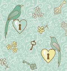 birds keys patern vector image