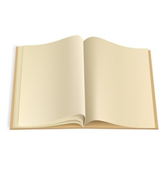 blank book pages template vector image