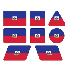 buttons with flag of Haiti vector image vector image