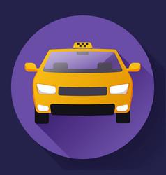 flat taxi car icon flat design vector image vector image