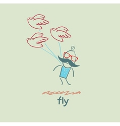 fly vector image vector image