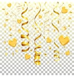 Gold Streamer on transparent background vector image vector image
