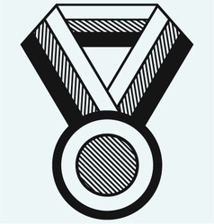 Medal with ribbon vector image