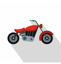 Motorcycle icon flat style vector image