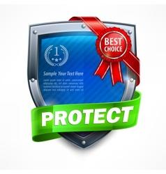 Shield with ribbon award vector