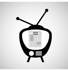 television news broadcast design vector image