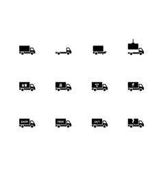 Truck icons on white background vector image