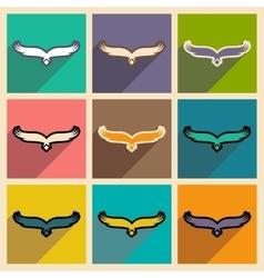 Stylish assembly silhouettes eagle logo vector image
