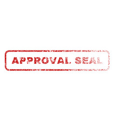 approval seal rubber stamp vector image