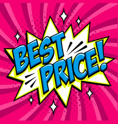 best price - comic book style word on a purple vector image vector image