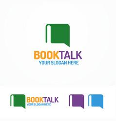 book talk logo set different color vector image