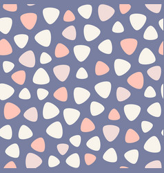 geometric spots seamless pattern blue pink vector image