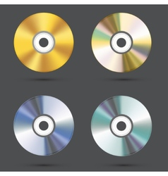 modern cd icons set vector image