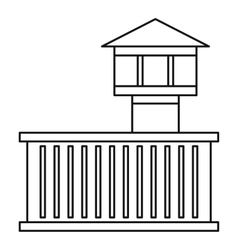 Prison tower icon outline style vector image