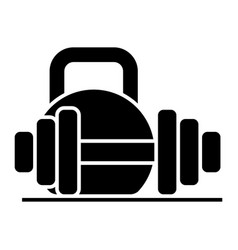 weights and dumbbells icon vector image