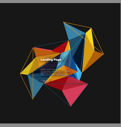 3d triangle abstract background polygonal vector image