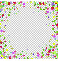 Abstract background with falling multicolored vector